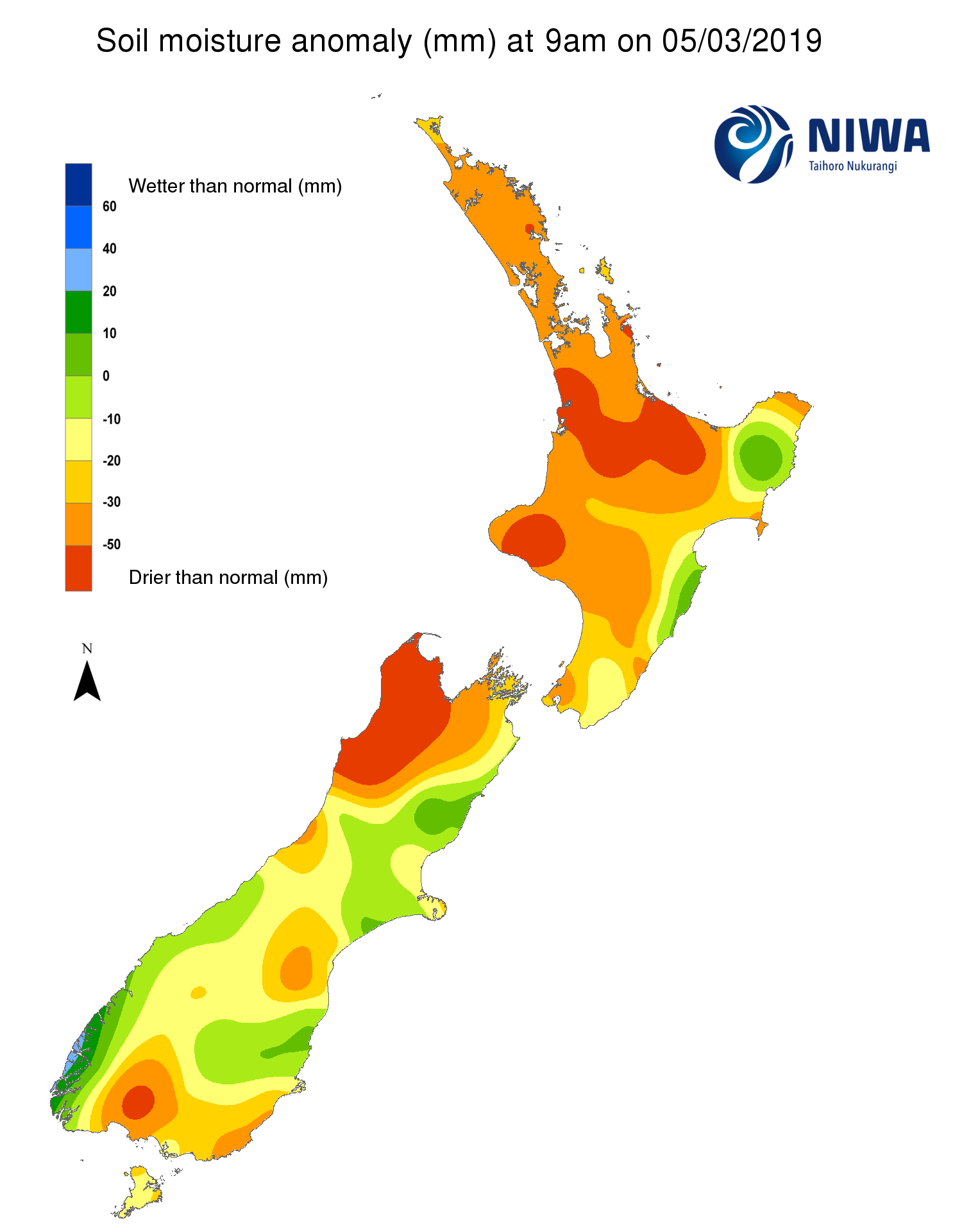 NIWA's Hotspot Watch for 6 March 2019