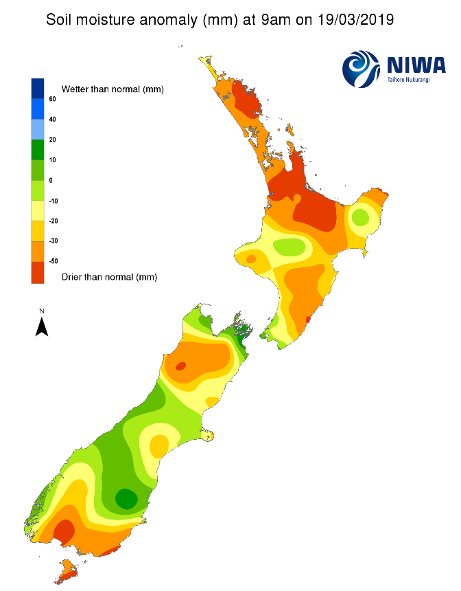 NIWA's Hotspot Watch for 20 March 2019