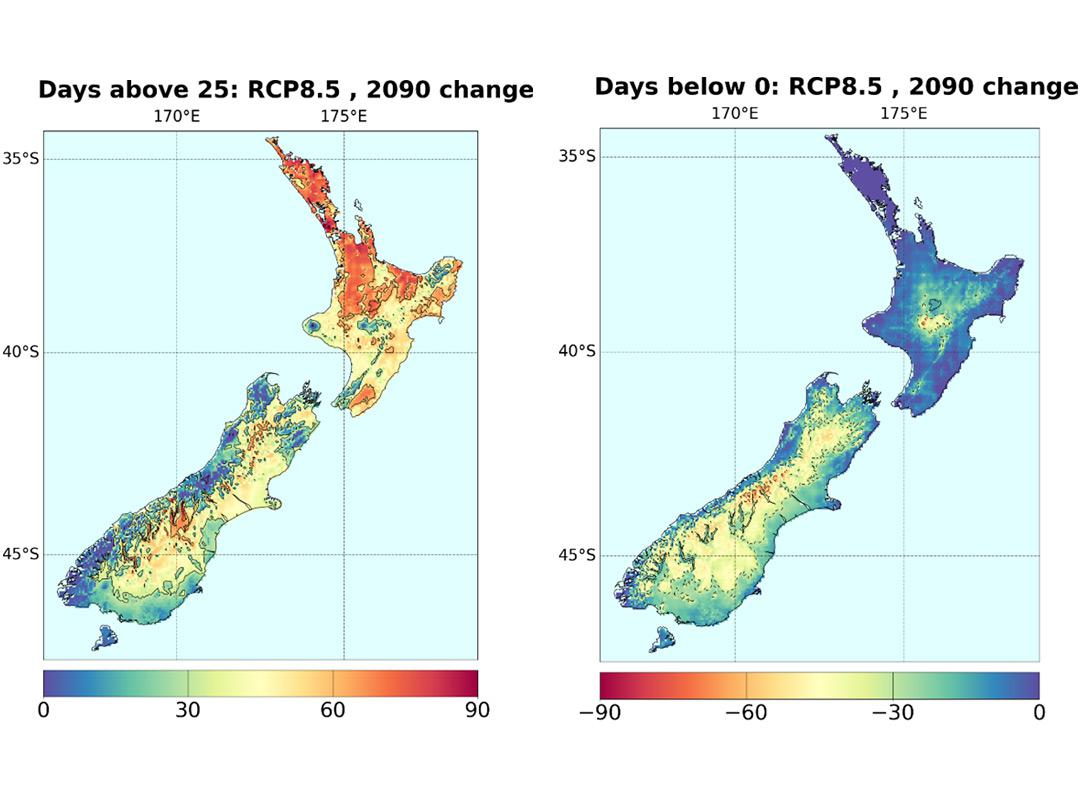 Map Of New Zealand Towns.Climate Change Scenarios For New Zealand Niwa