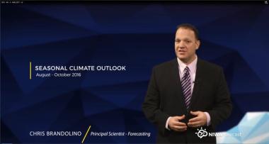 NIWA Seasonal Climate Outlook August - October 2016
