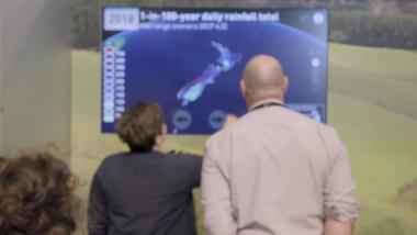 Climate change touch screen - Fieldays